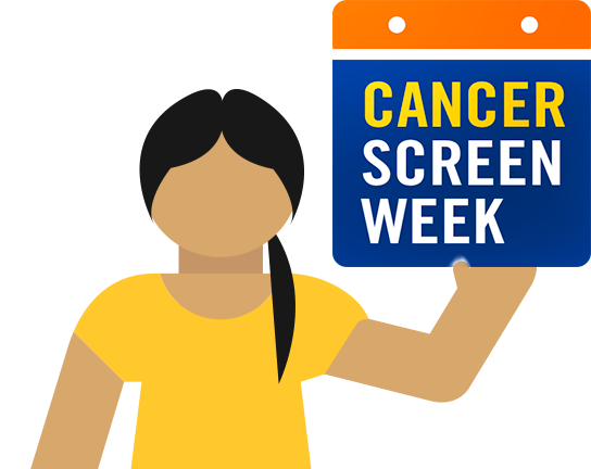 Woman Holding Cancer Screen Week Sign